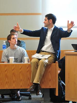 """Andrew Metz """"91 in Professor Erol Balkan""""s class in 2010"""