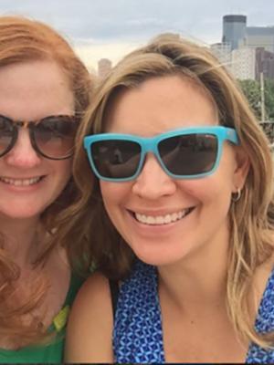 Maribeth Romslo and Nina Sharma '01, creators of the app, The Whole Truth Booth.