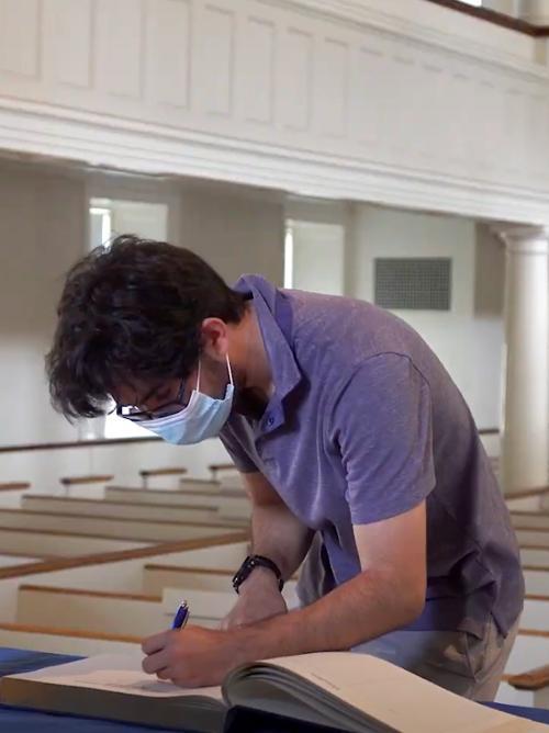 Screenshot of matriculation video