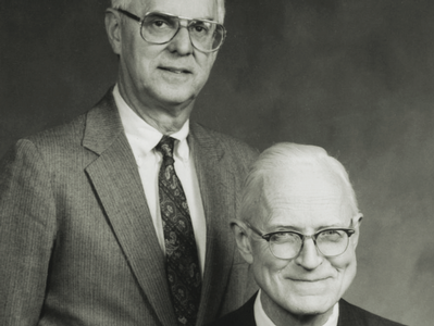 Chester Ostrander '35 and William Wetherbee '54
