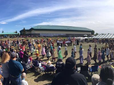 Akwesasne Powwow dancers on Cornwall Island, Ontario