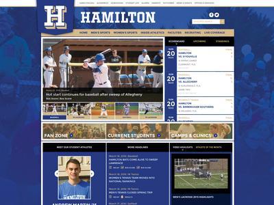 screenshot of Athletic website