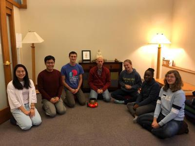 Meditation club meeting