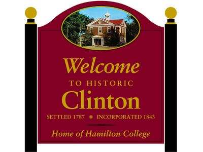 Clinton Village Welcome Sign