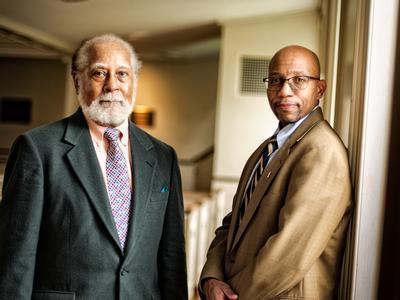 Alfred Prettyman '56 and Todd Franklin