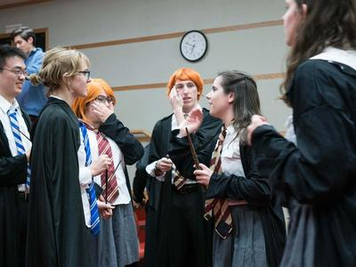 Students get ready for the 2017 Hogwarts production.