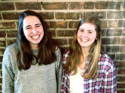 Jessye McGarry '16 and Carrie Solomon '16