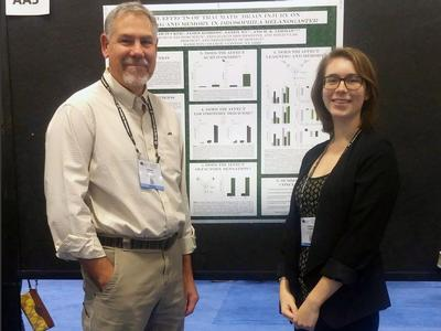 Professor Herm Lehman and Hannah Zucker '15 presented research results at the Society for Neuroscience Conference.