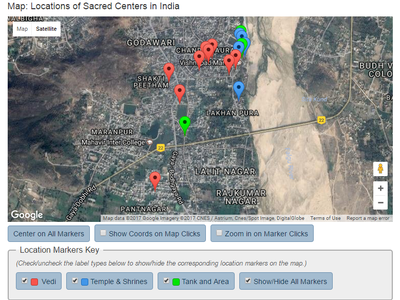 Sacred Center in India Map