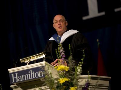 U.S. Treasury Secretary Henry Paulson addressed graduates