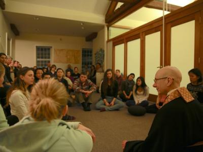 Shinge Roshi in Meditation Room