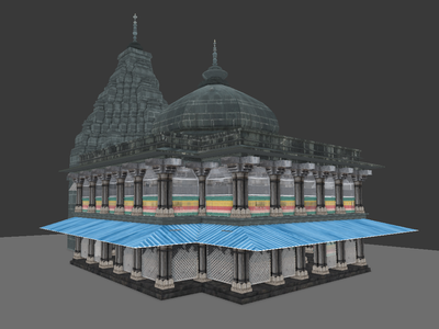 Sacred Center in India - 3D Temple