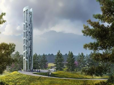 Tower of Voices - Artwork courtesy of bioLinia and Paul Murdoch Architects.