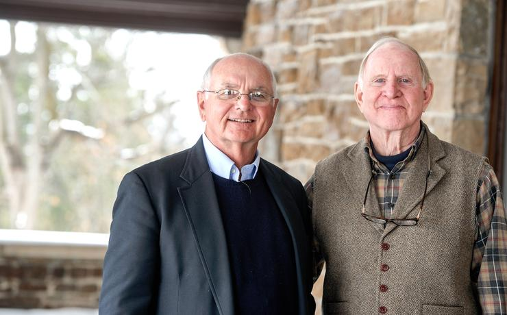 Bill Hoyt '59 and Ted Pitcher '68