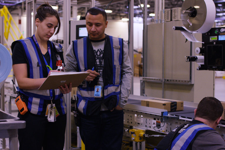 Amazon facilities manager and associates in the FC