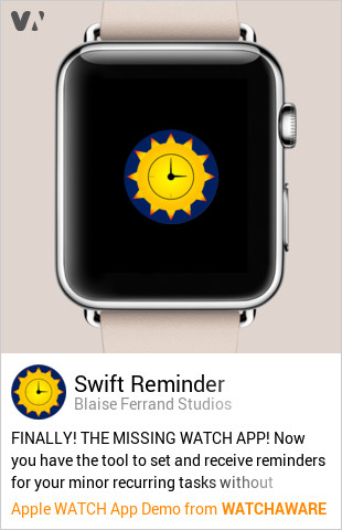 Stop Forgetting Stuff With Swift Reminder on Apple Watch