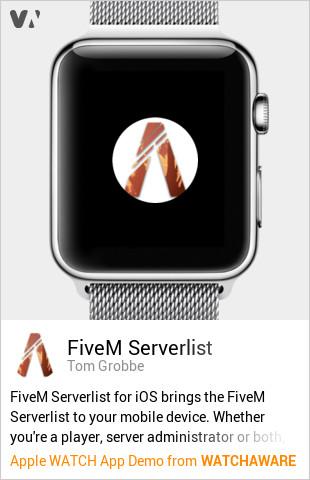 FiveM Serverlist by Tom Grobbe Watch App Embed Generator - WatchAware