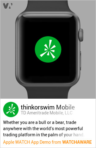 thinkorswim Mobile by TD Ameritrade Mobile, LLC Watch App Embed