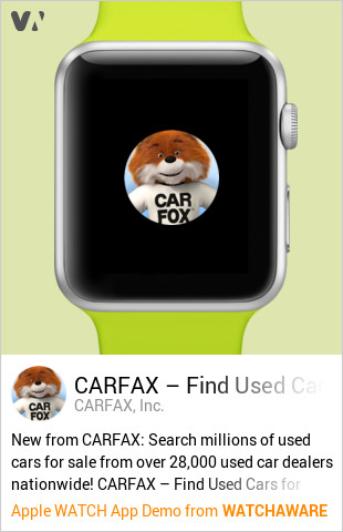 CARFAX Find Used Cars for Sale by CARFAX, Inc  Watch App