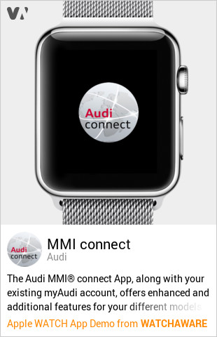 MMI connect by Audi Watch App Embed Generator - WatchAware