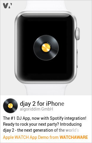 djay 2 for iPhone by algoriddim GmbH Watch App Embed Generator