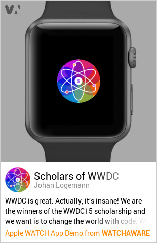 Scholars of WWDC Apple Watch Demo