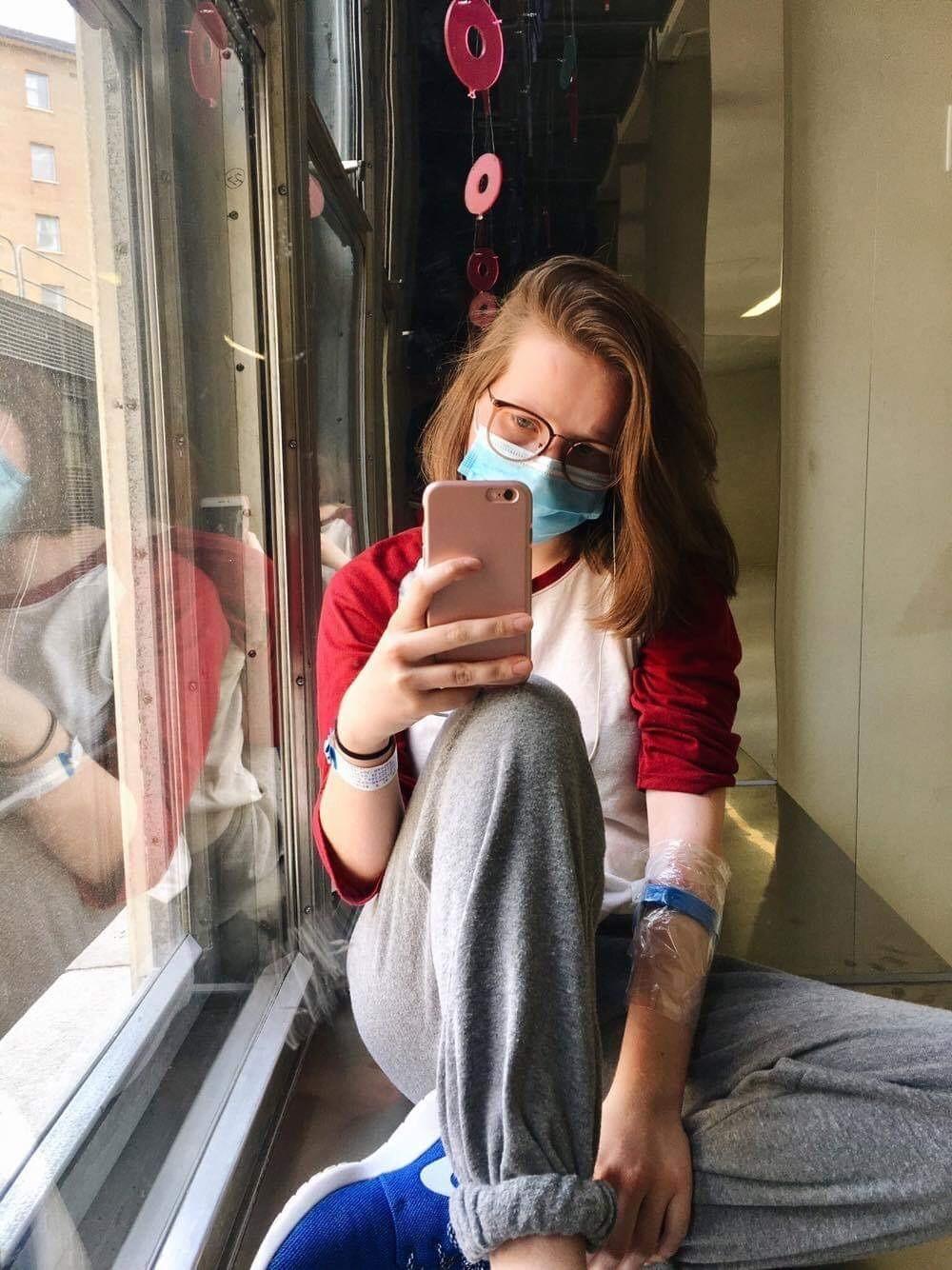 Camille Selfie Hopital