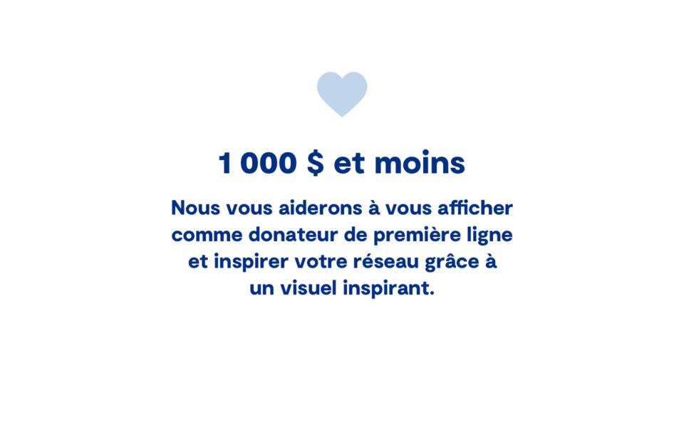 1 000 Moins Fr