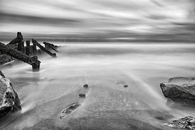 Landscape | Black and white canvas wall art | Drift out to sea