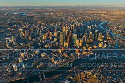 Downtown Calgary at sunrise