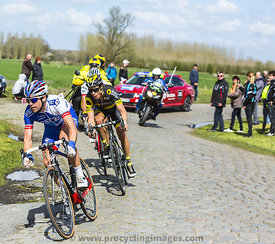 Group of Cyclists - Paris Roubaix 2016
