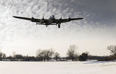 Nearly home - Lancaster limping back in winter