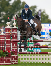 Michael Owen and The Highland Prince - show jumping phase,  Land Rover Burghley Horse Trials, 2nd September 2012.