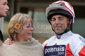 Ben Hobday in the Parade Ring - Champions Willberry Charity Flat Race - Cheltenham Racecourse, April 20th 2017