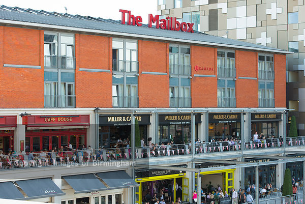 The Mailbox, canalside bars and restaurants, Birmingham