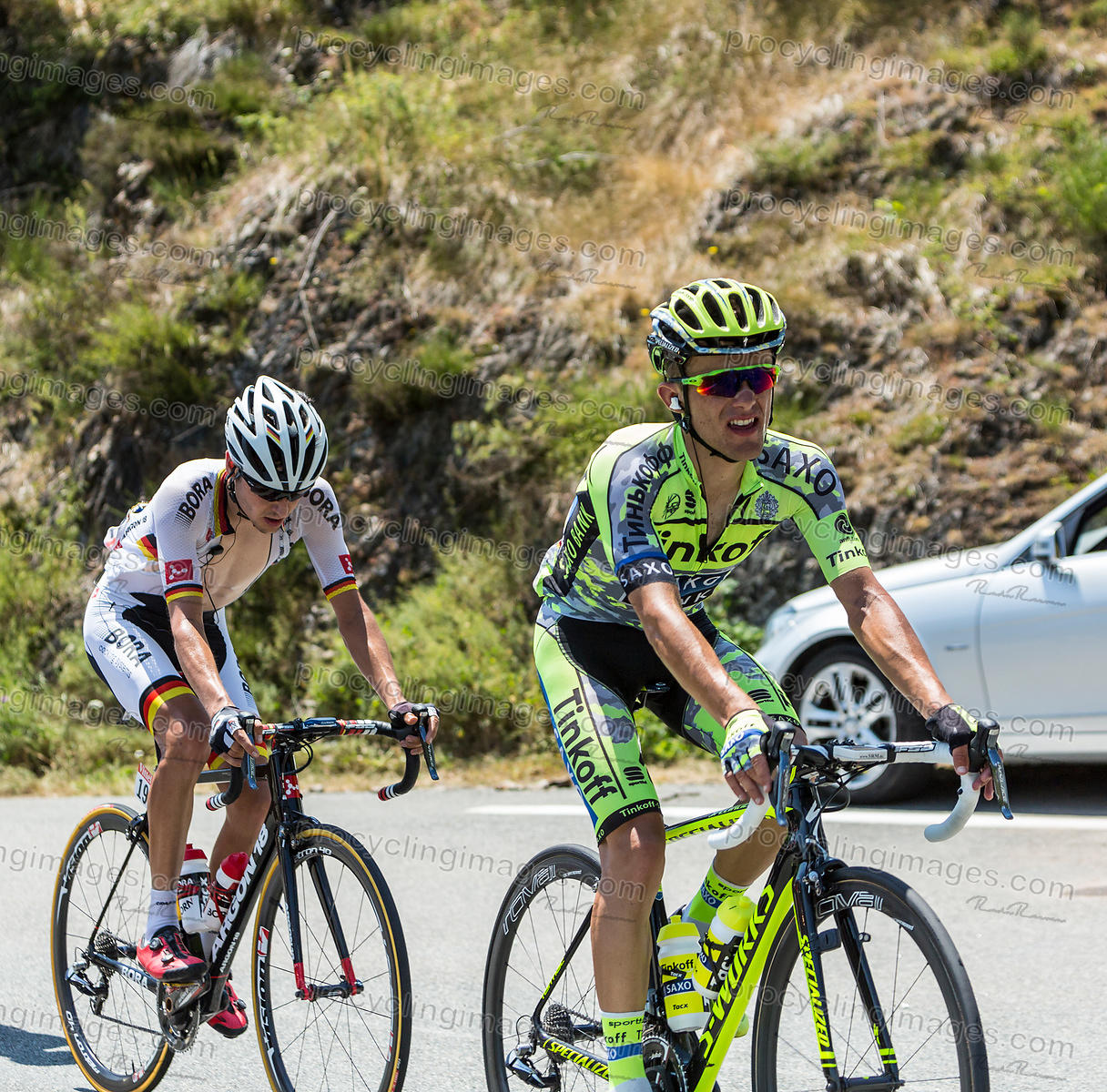 Rafal Majka on Col D'Aspin - Tour de France 2015