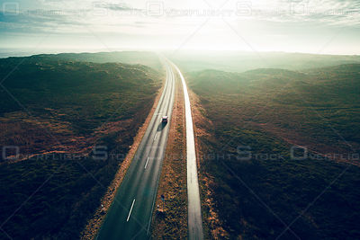 Highway on Nord-Sylt Germany