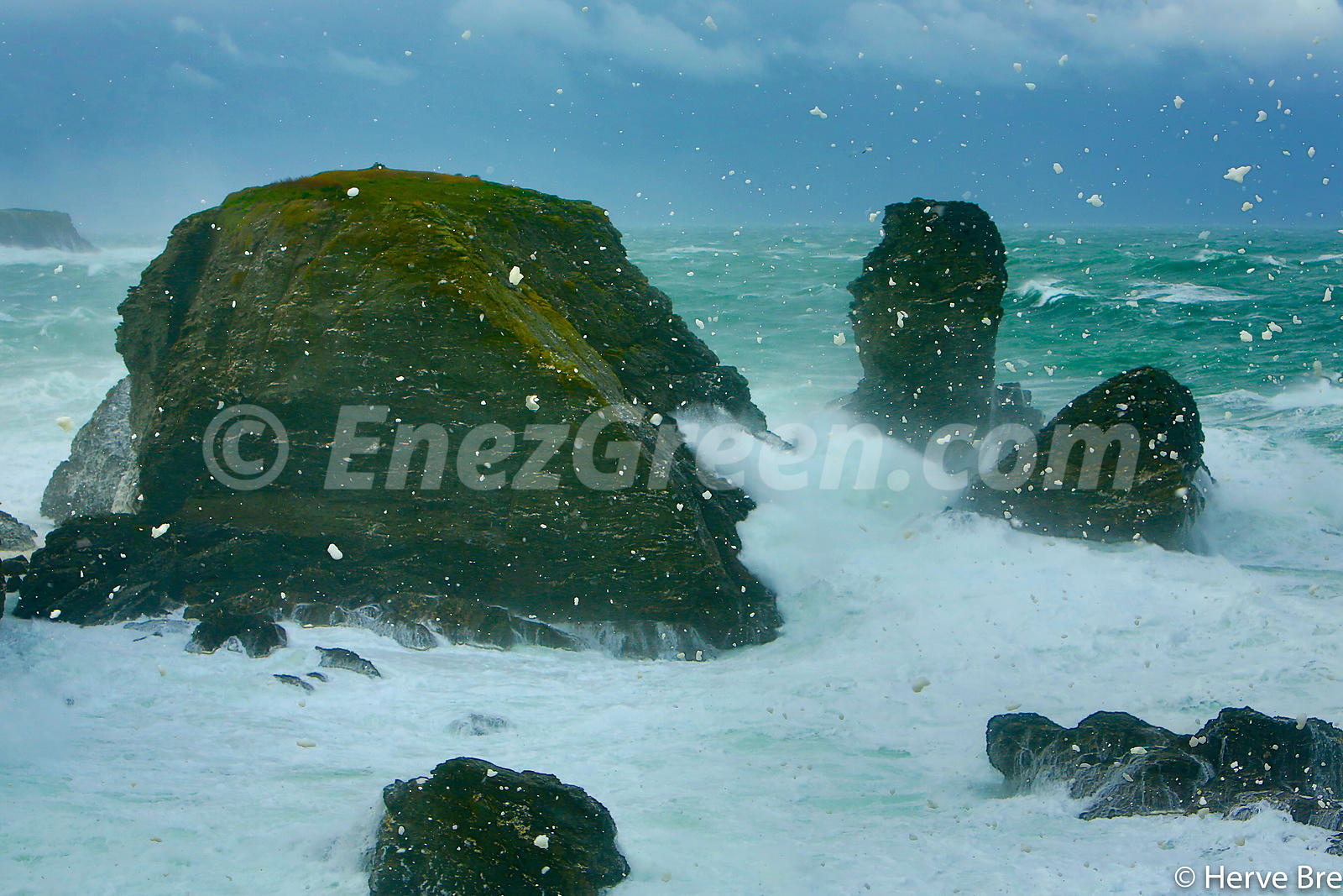 Storm in Brittany at Belle-île