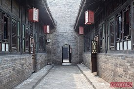 Old courtyard in town of Pingyao, China