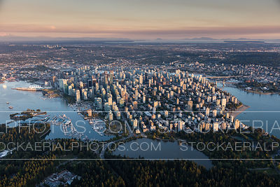 Vancouver City Skyline at Sunset