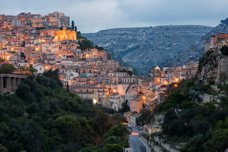 Ragusa Skyline at Dawn