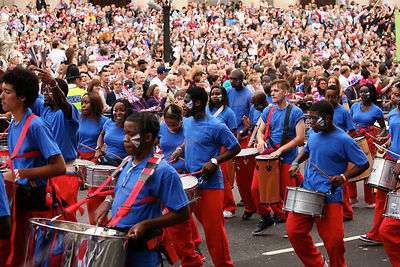 Young Musicians lead the  London 2012 Athketes Parade through The City of London