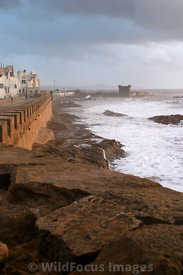 Afternoon storm from the ramparts of Essaouira, Morocco; Portrait