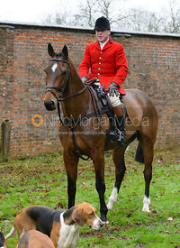 John Holliday and the Belvoir Hounds at the meet