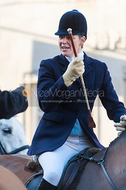 Sallyanne  Brooksbank - The Cottesmore Hunt in Uppingham on New Year's Day 2013