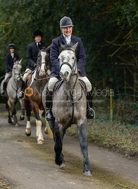 Holly Campbell leaving the Cottesmore Hunt meet at Little Dalby Hall
