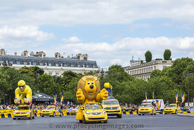 Publicity Caravan in Paris - Tour de France 2016
