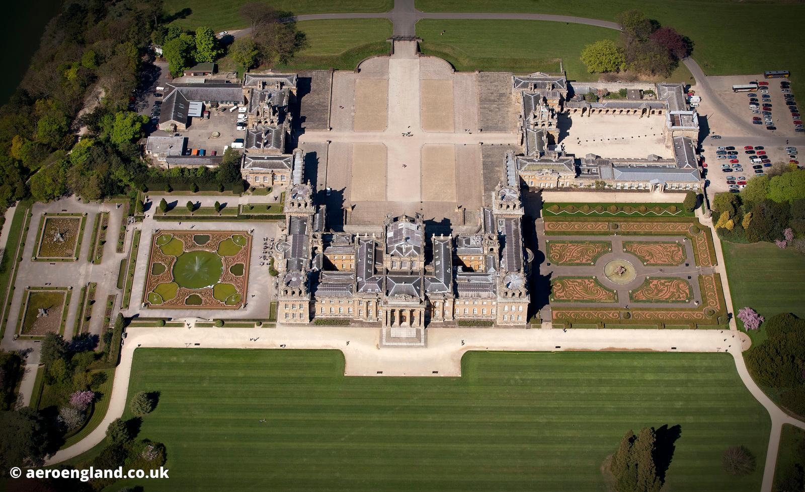 Blenheim Palace aerial photograph