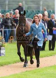 Caroline Powell and ON THE BRASH at the trot up, Land Rover Burghley Horse Trials 2018