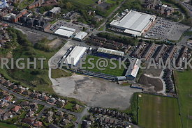 Oldham aerial photograph of Oldham football Stadium